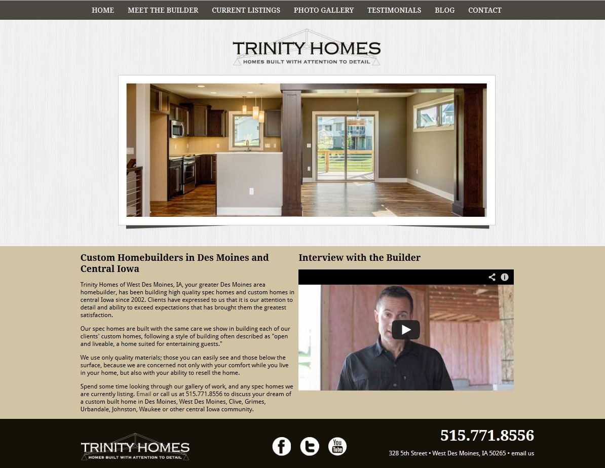 Trinity Homes of Iowa has a new website! | EDJE Blogs