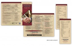 Peoples Bank 's new brochure and insert design