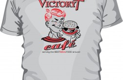 Victory Cafe TSHIRT art