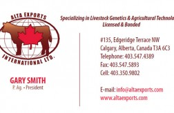 Alta Exports International Business Card