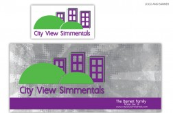 City View Simmentals - Log & Banner
