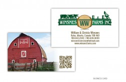 Winsnes Farms Business Card